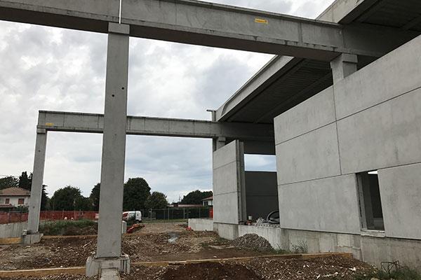 Nuova costruzione capannone industriale